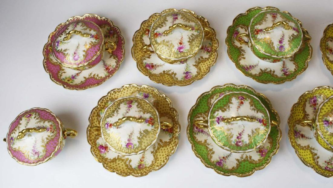 late 19th c Dresden Lamm porcelain bouillon cups - 6