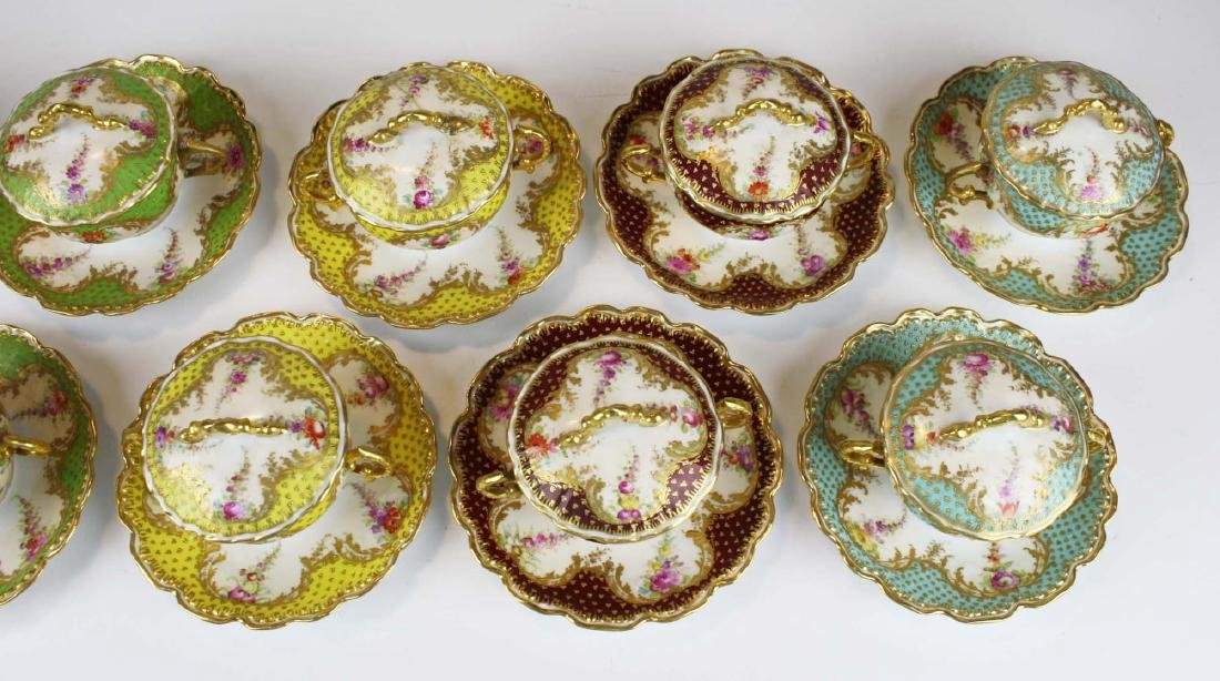 late 19th c Dresden Lamm porcelain bouillon cups - 7