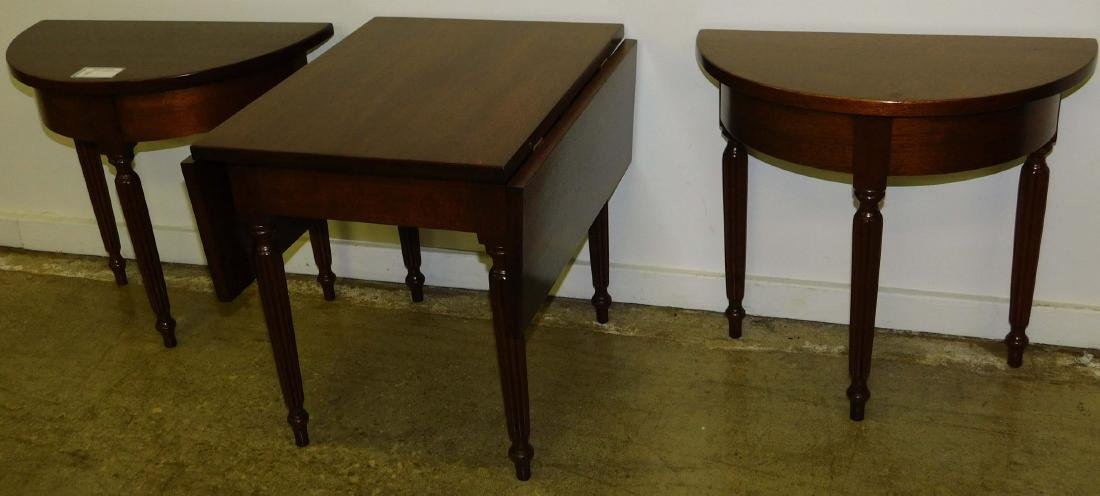 e 20th c child's 3 part mahogany banquet table