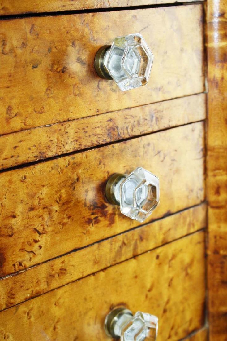 19th c Sheraton birds eye maple stand - 5