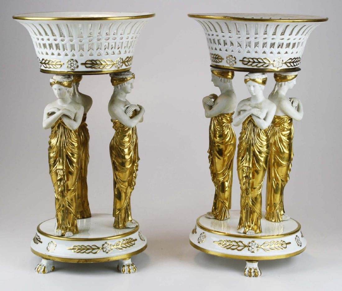 pr of early 19th c Sevres neoclassical compotes