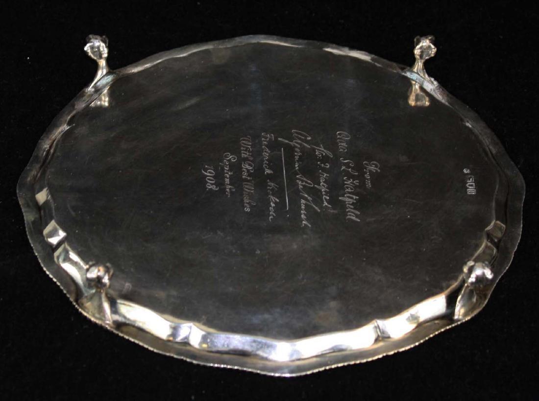1908 Sheffield  sterling silver salver - 4