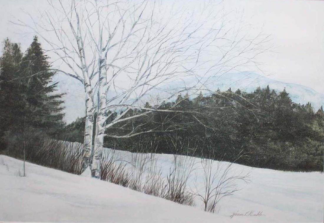 Warren Kimble (VT ) Vermont Winter Landscape