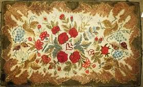 late 19th c Waldoboro type hooked rug