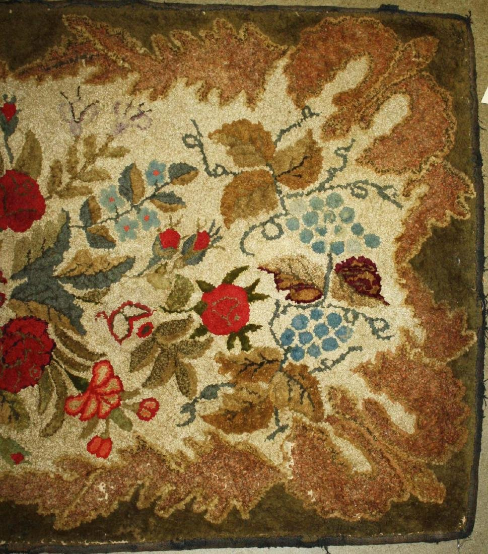 late 19th c Waldoboro type hooked rug - 4