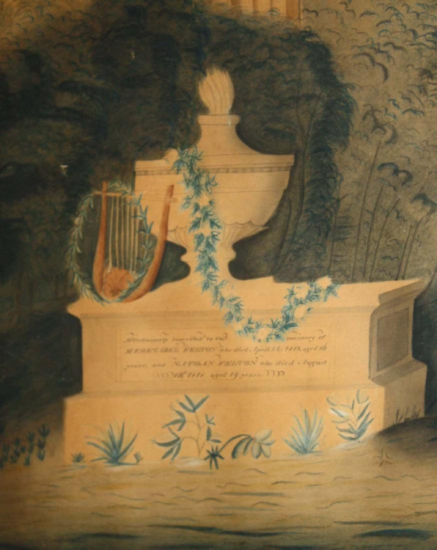 1818 watercolor Felton family mourning picture - 2
