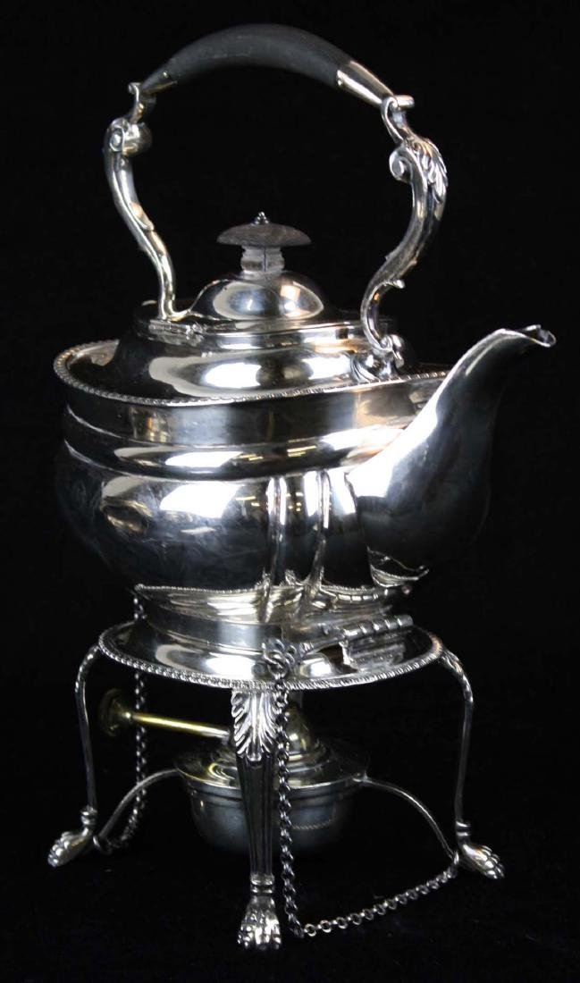 London sterling Georgian kettle on stand - 2
