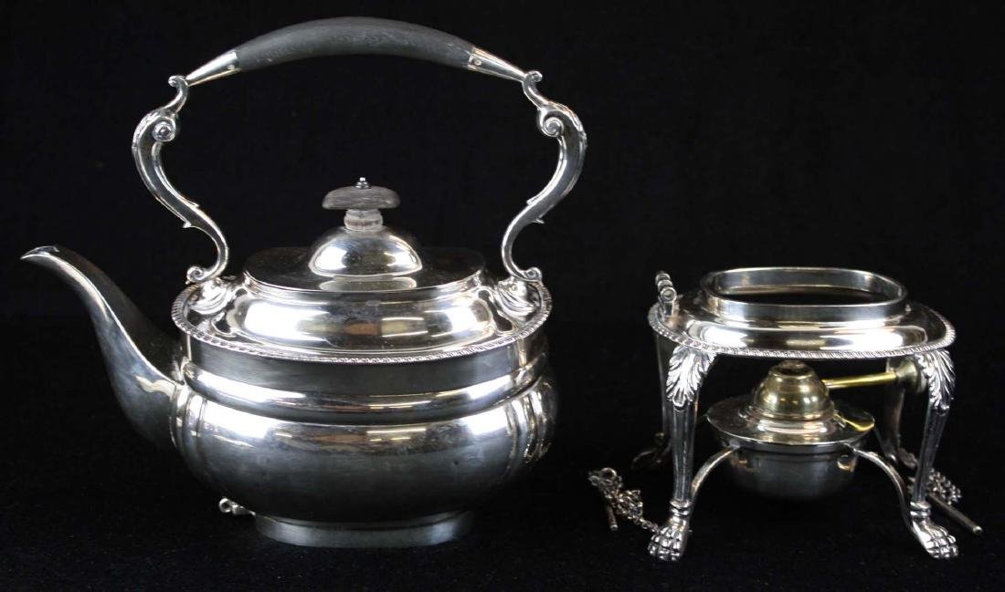 London sterling Georgian kettle on stand - 3