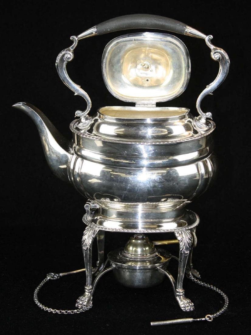 London sterling Georgian kettle on stand - 4