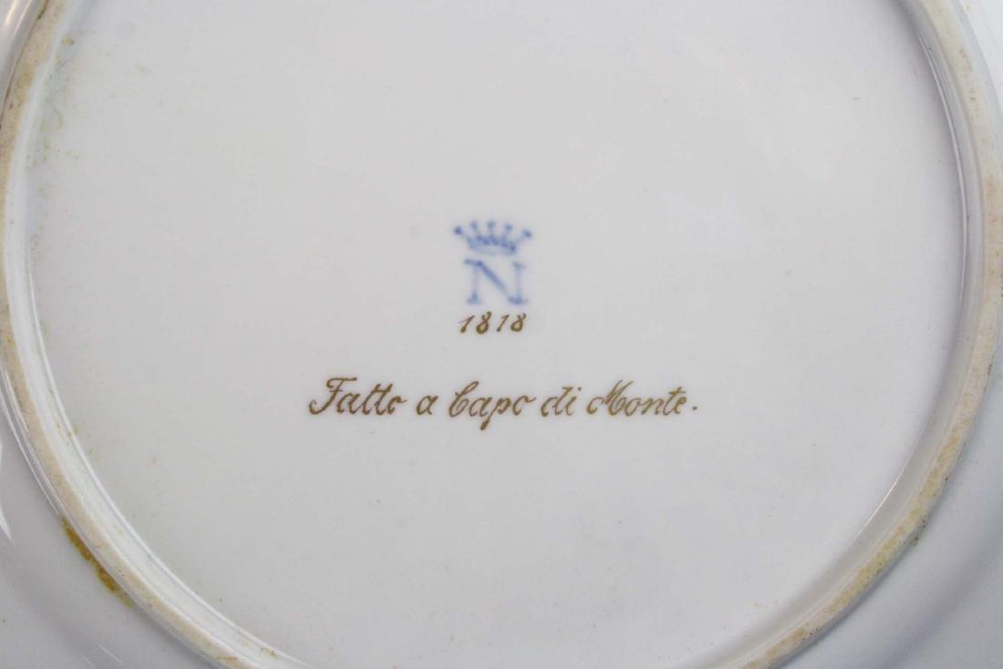 set of 12 old Capo di Monte plates w/ cherub border - 9