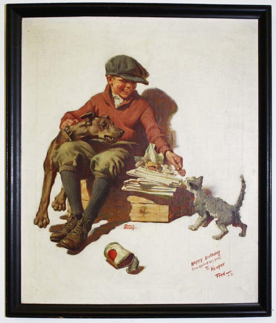 Frederic Stanley (VT 1892-1967) Newsie - 2