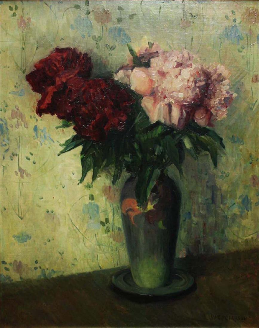 Jane Peterson (Am 1876-1965) Peonies in a Vase