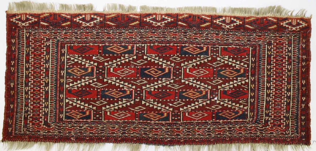 late 19th- early 20th c Tekke bag face - 4