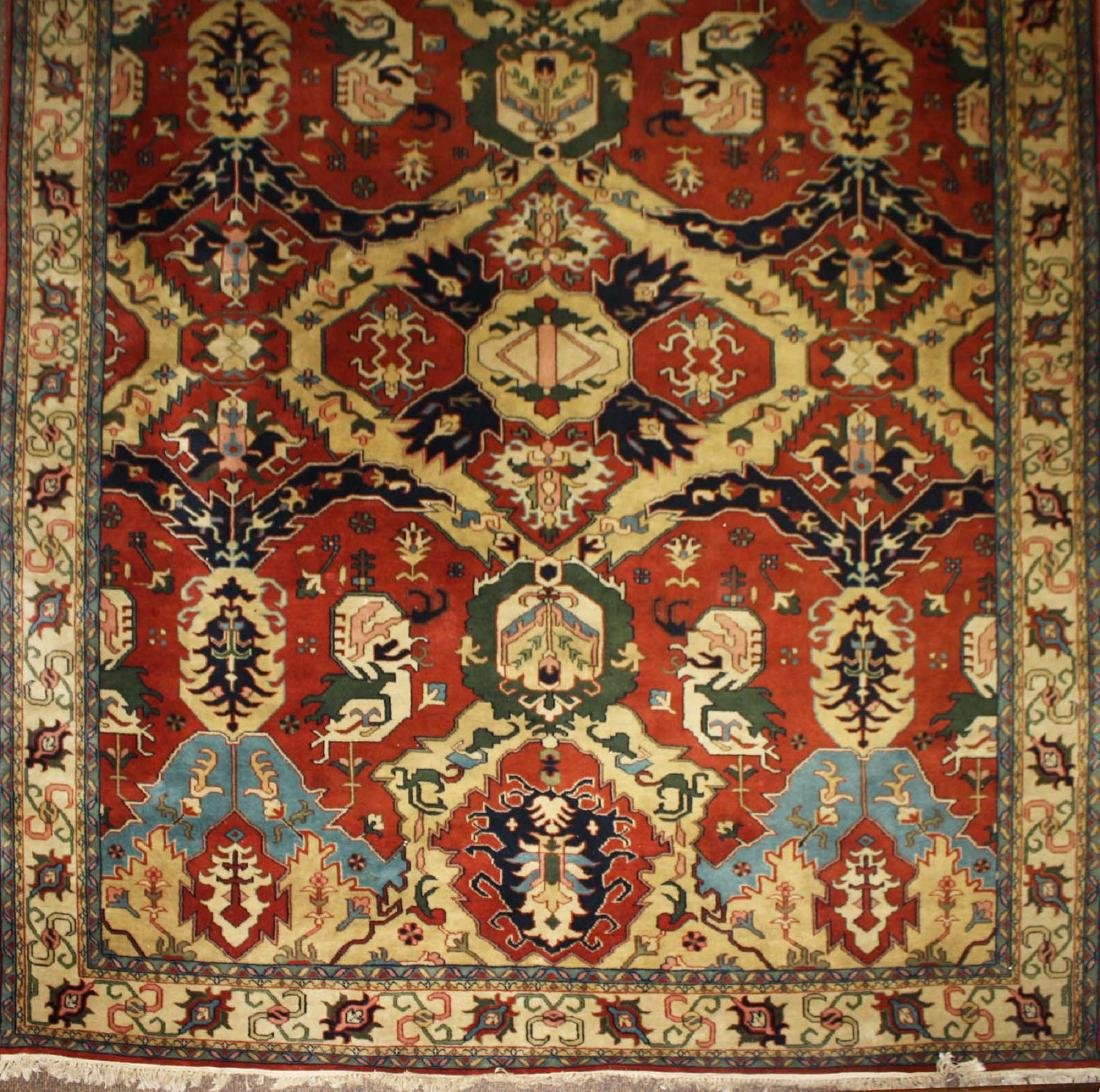late 20th c Heriz main carpet