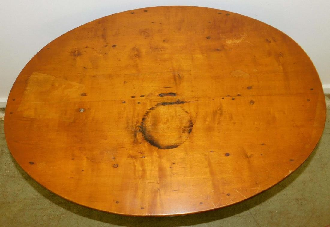 18th c Queen Anne maple oval top tea table - 2