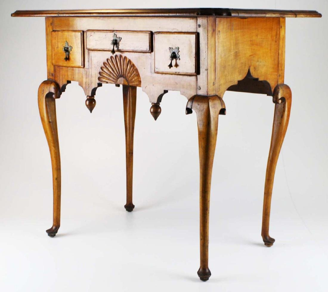 19th c Queen Anne curly maple lowboy - 2