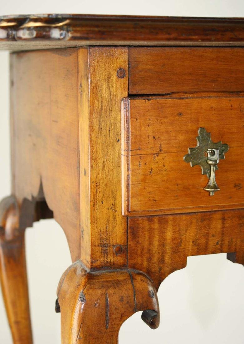 19th c Queen Anne curly maple lowboy - 5
