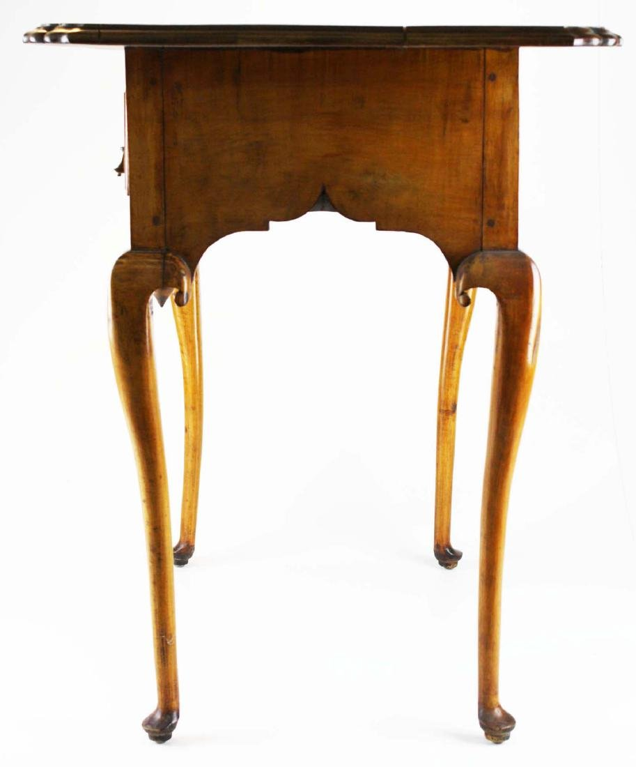 19th c Queen Anne curly maple lowboy - 6