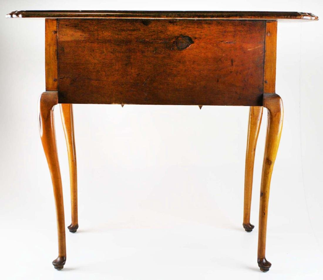 19th c Queen Anne curly maple lowboy - 7