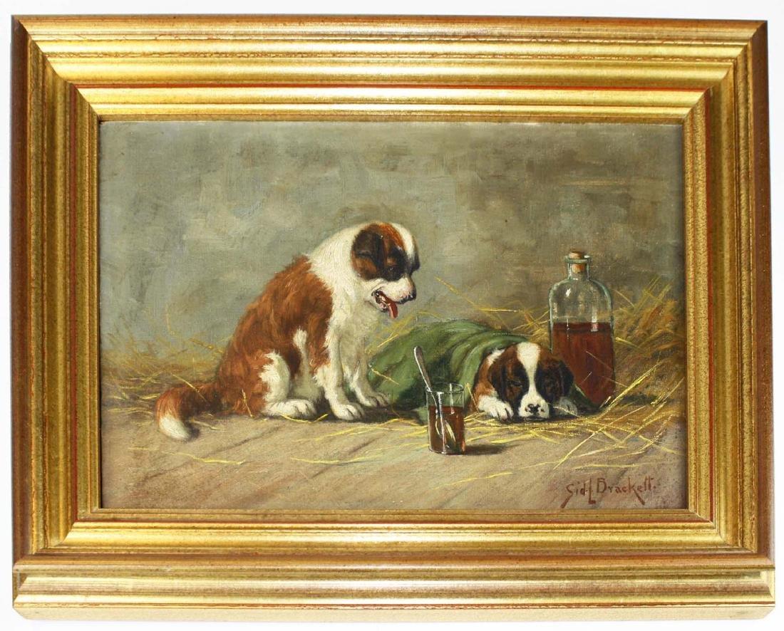 Sidney Lawrence Brackett (MA 1852-1910) A Sick Pal