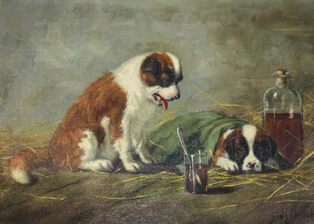 Sidney Lawrence Brackett (MA 1852-1910) A Sick Pal - 3
