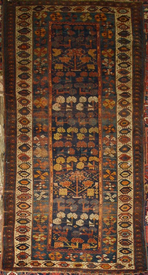 early 20th c Kurdish all wool runner