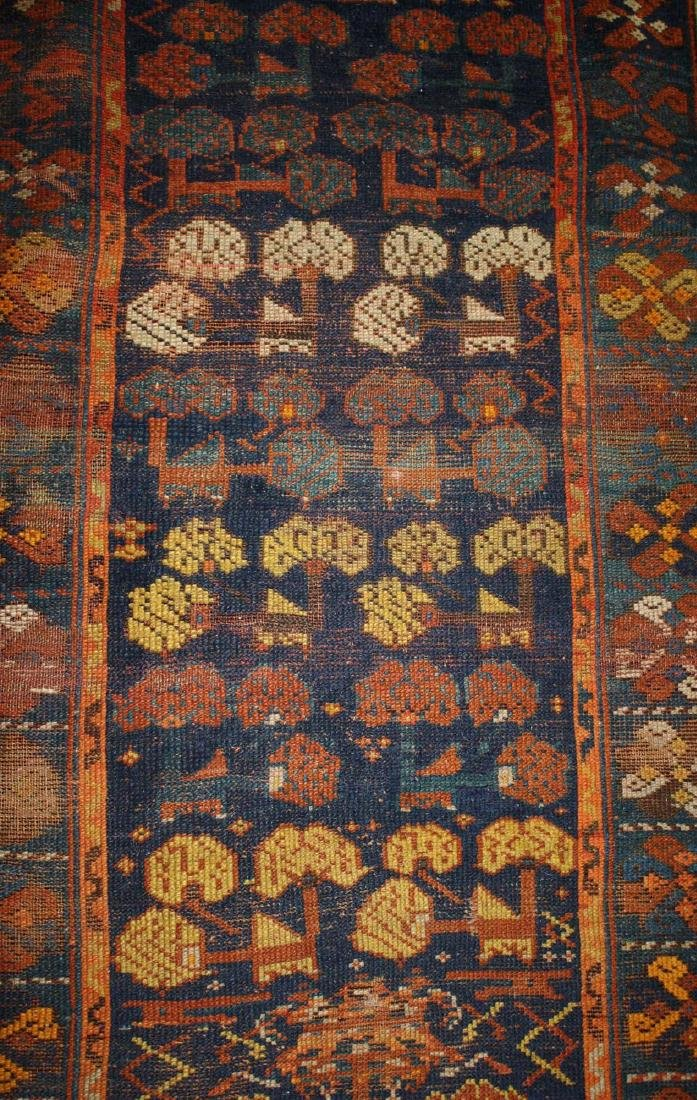 early 20th c Kurdish all wool runner - 4