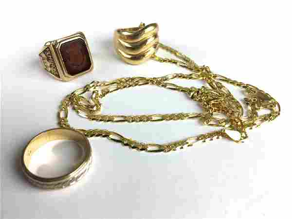 Group of 14k & 10 k yellow gold
