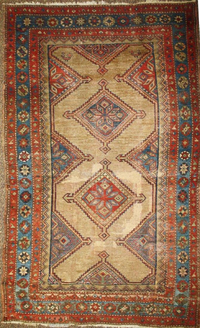 early 20th c Persian Senna area rug