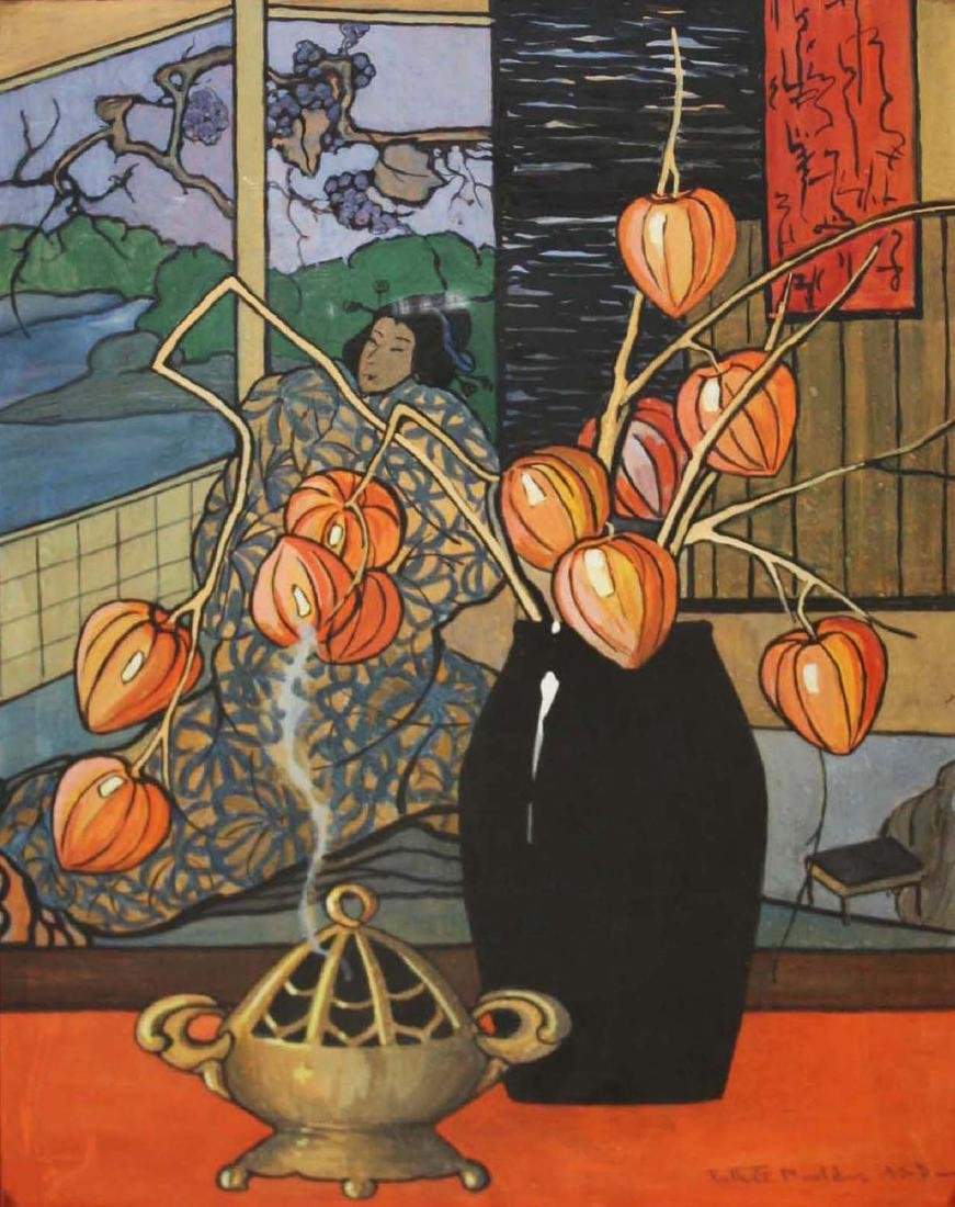 Ruth G Mould (VT 1894-1979) Still life with Chinese
