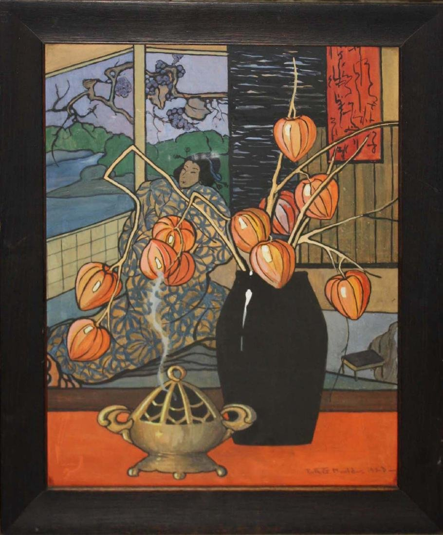 Ruth G Mould (VT 1894-1979) Still life with Chinese - 2