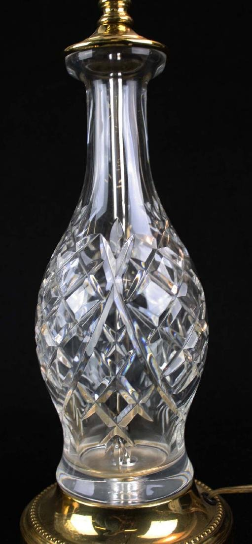 pr of late 20th c Waterford style crystal table lamps - 2