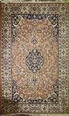 late 20th c  Persian Tabriz medallion design area rug