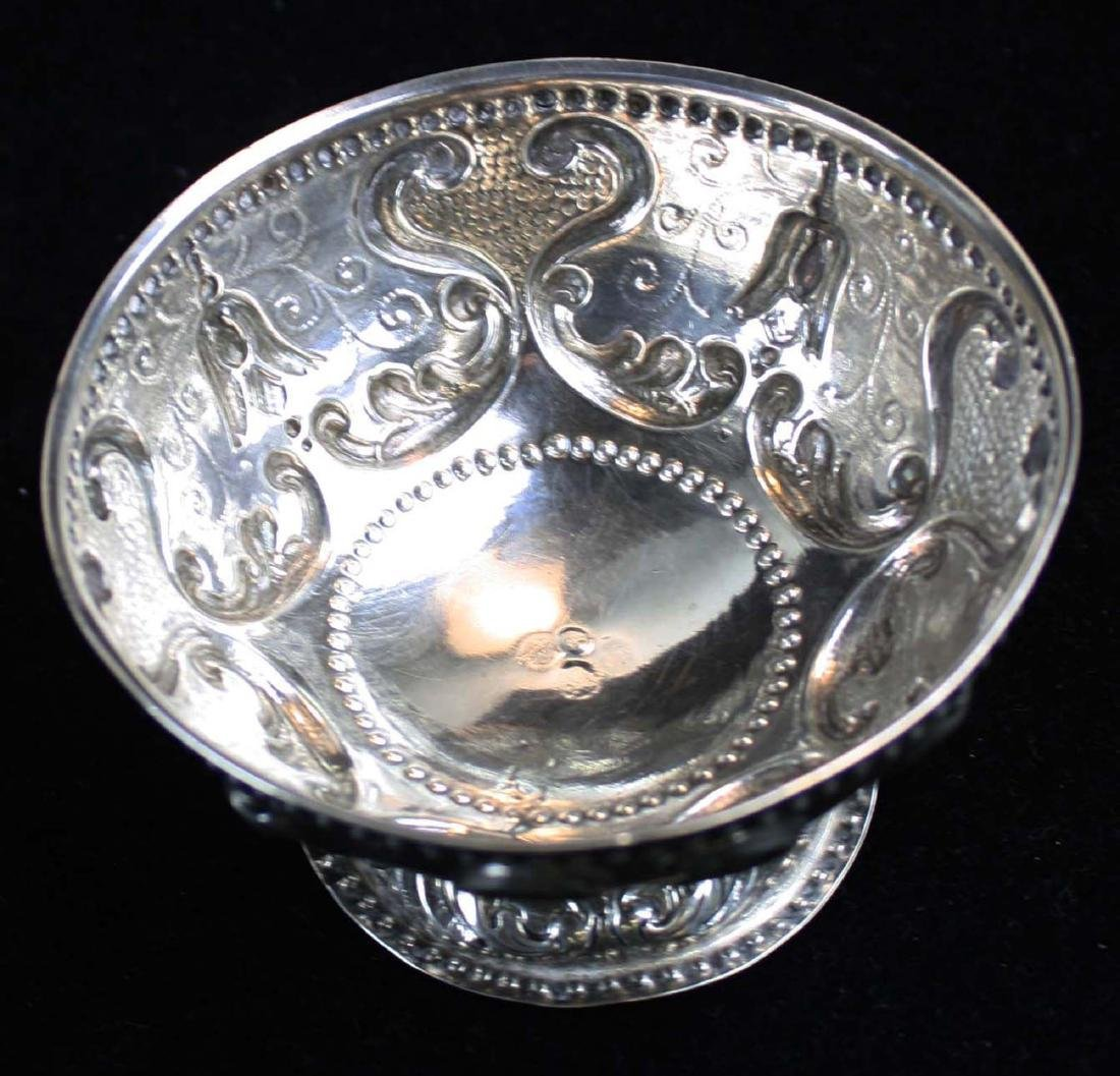 19th c. Dutch repousse silver footed bowl - 4