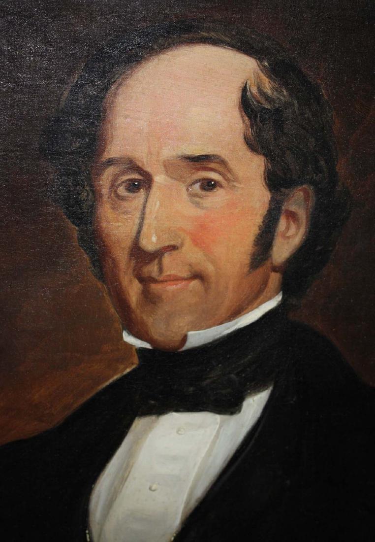 Circa 1860 American School Portrait of a Gentleman - 2