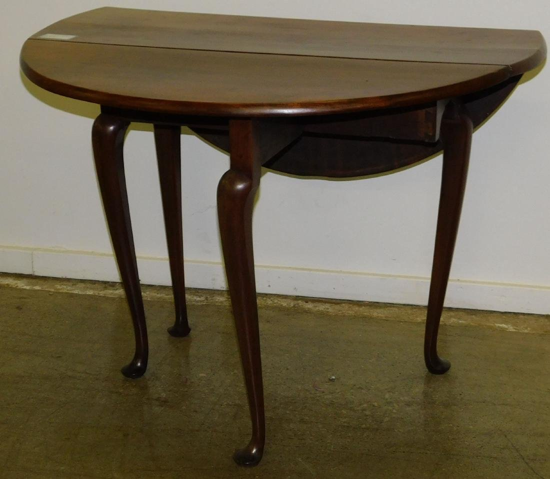 18th c Queen Anne cherry oval drop leaf