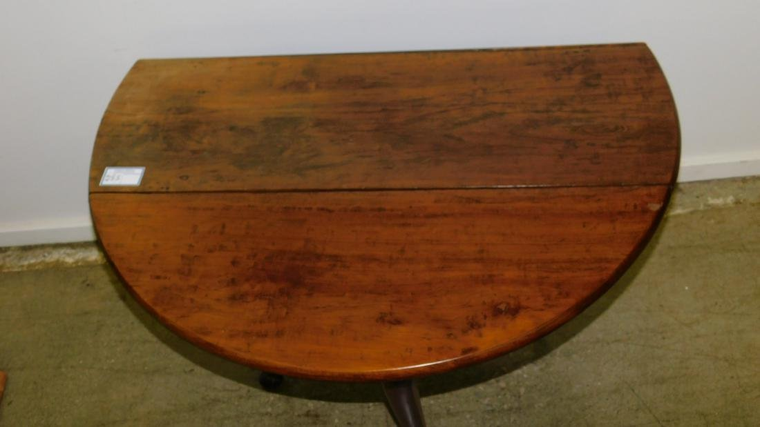 18th c Queen Anne cherry oval drop leaf - 2