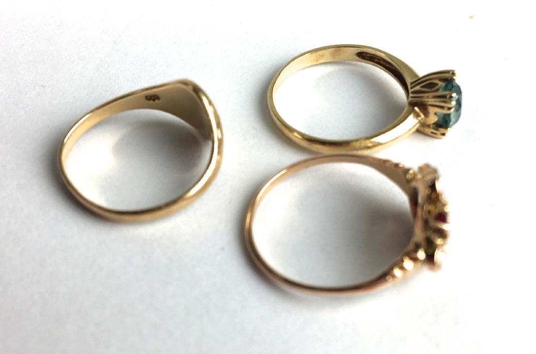 3 14k yellow gold ladies rings - 2