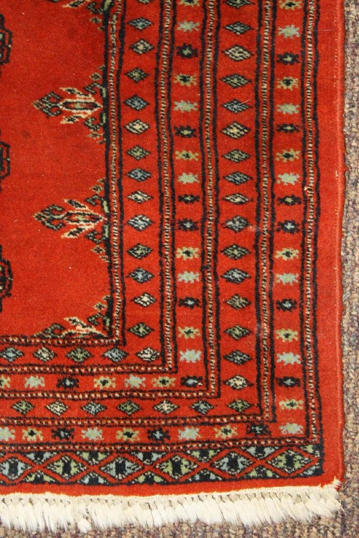 mid 20th c Tekke scatter rug, one row of 5 guls - 3