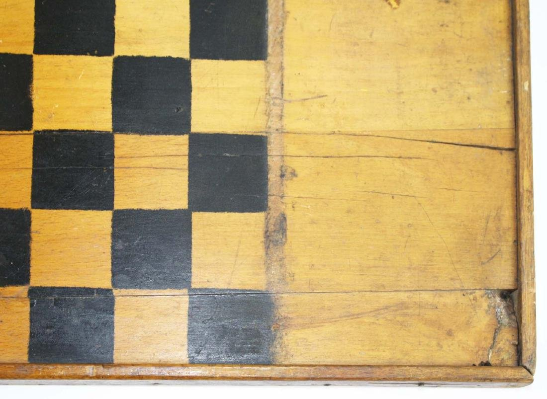 early 20th c game board w/ Parchesi reverse - 5