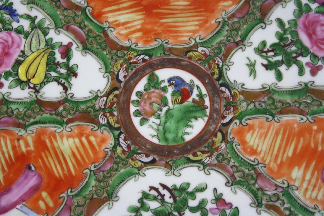 ca 1900 Chinese export rose medallion platter - 2