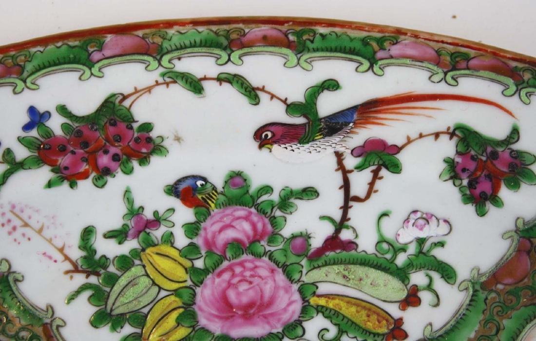 ca 1900 Chinese export rose medallion platter - 3