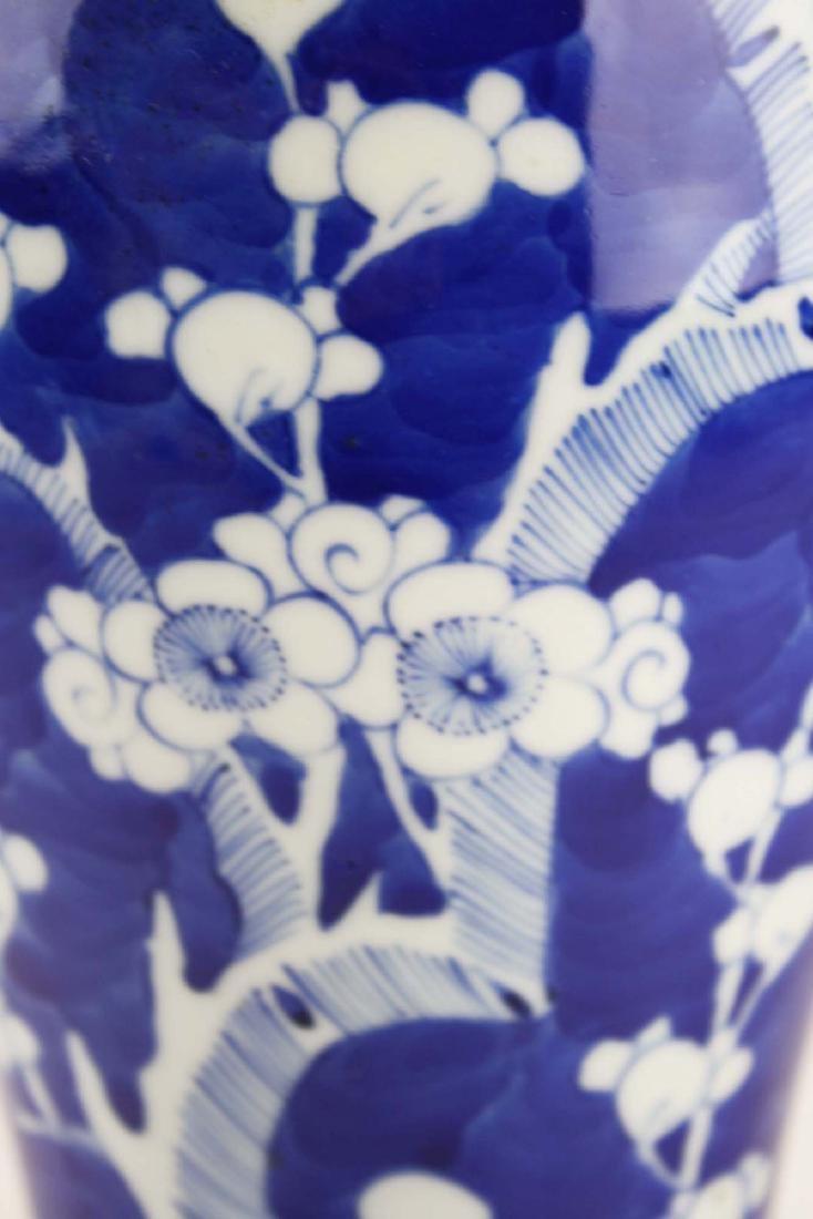 ca 1900 Chinese blue & white plum blossom vase - 6