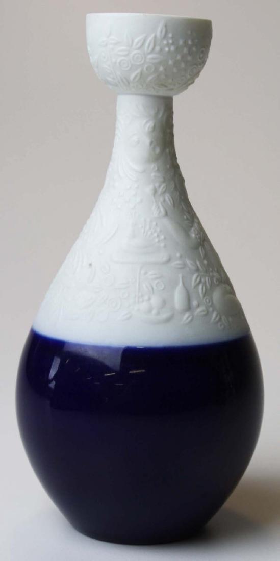 scarce Rosenthal Wiinblad blue Magic Flute candlestick