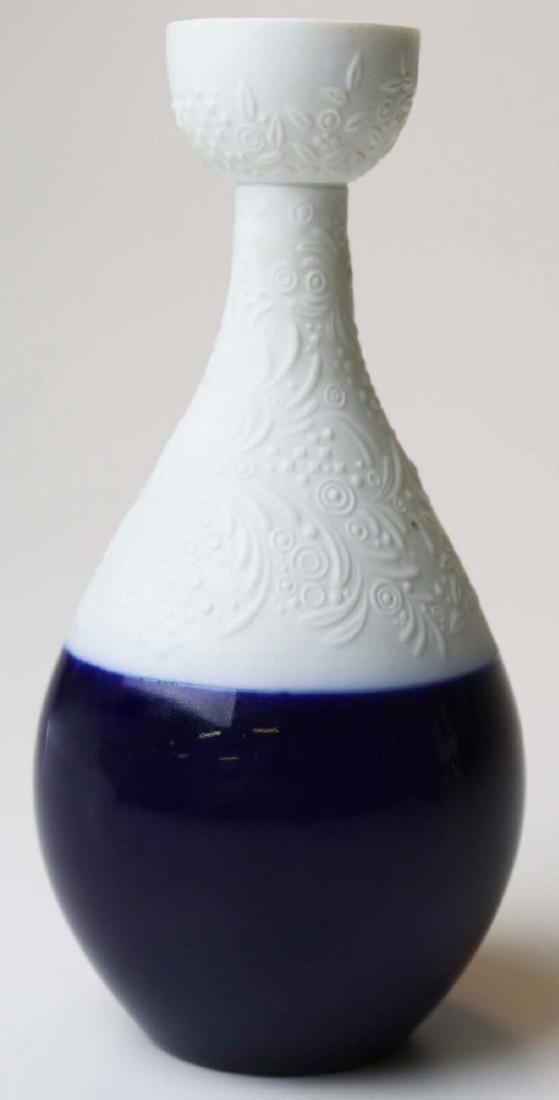 scarce Rosenthal Wiinblad blue Magic Flute candlestick - 2