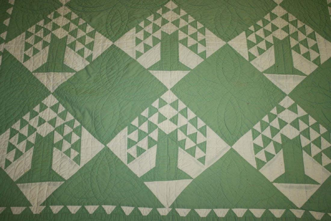 early 20th c basket pattern pieced quilt - 5