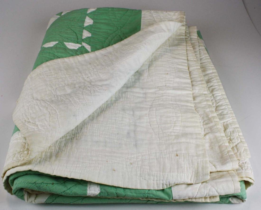 early 20th c basket pattern pieced quilt - 6
