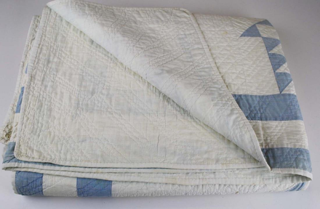 early 20th c basket pattern pieced quilt - 7