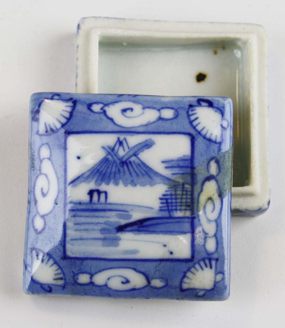 late 19th c Chinese blue & white porcelain plates, etc - 3
