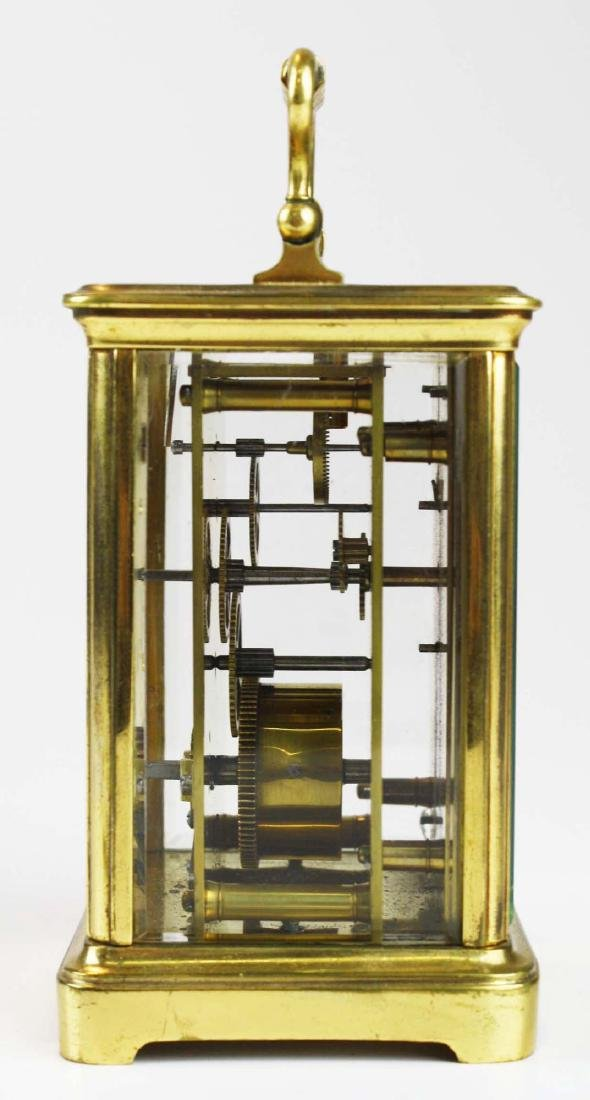 early 20th c gilt brass carriage clock - 2